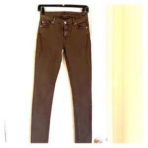 7 for all mankind grey jeans size 26